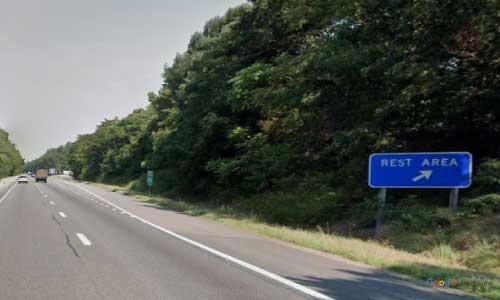 va interstate64 i64 virginia goochland rest area westbound mile marker 168 entrance
