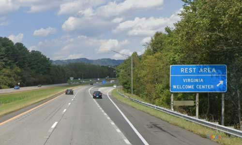 va interstate77 i77 virginia lambsburg welcome center northbound mile marker 1 entrance
