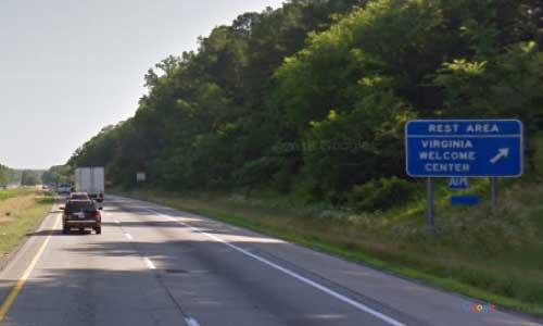 va interstate85 i85 virginia bracey welcome center northbound mile marker 1 entrance