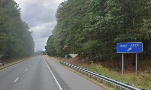 va interstate85 i85 virginia dinwiddie rest area southbound mile marker 55 entrance